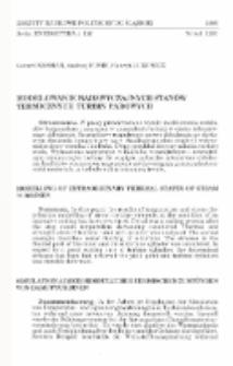 Modelowanie nadzwyczajnych stanów termicznych turbin parowych