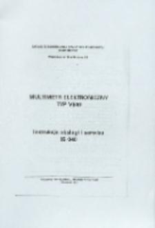 Multimetr elektroniczny typ V640: instrukcja obsługi i serwisu IS 040