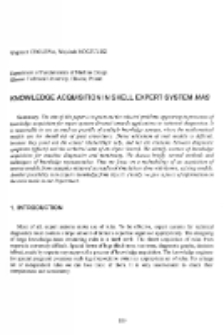 Knowledge acquisition in shell expert system MAS