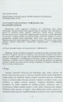 Zaawansowane metody wnioskowania diagnostycznego