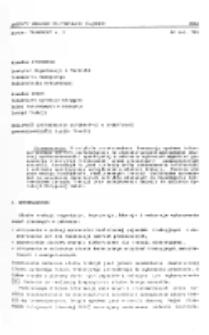 Możliwość zastosowania informatyki w operatywnej sprawozdawczości służby trakcji