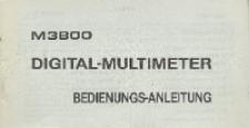 Digital-multimeter M3800 : bedienungs-anleitung