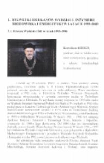 Sylwetki dziekanów Wydziału Inżynierii Środowiska i Energetyki w latach 1993-2003