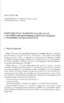 Kierunki prac naukowo-badawczych i projektowo-konstrukcyjnych z maszyn i urządzeń hydraulicznych