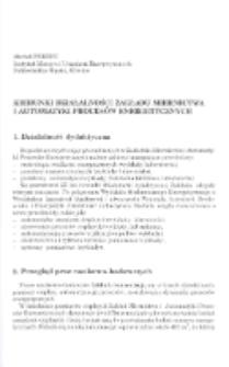 Kierunki działalności Zakładu Miernictwa i Automatyki Procesów Energetycznych