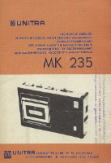 MK 235 : instrukcja obsługi monofonicznego magnetofonu kasetowego