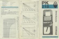 PK 210 : Bedienungsanweisung