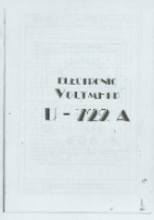 Electronic voltmeter U-722 A