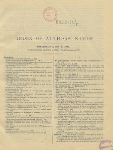British Chemical Abstracts. Index of Authors' Names 1930. Abstracts A and B