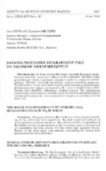 Badania modelowe separatorów pyłu do palników niskoemisyjnych