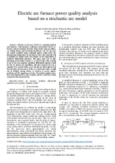 Electric arc furnace power quality analysis  based on a stochastic arc model