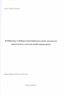 Konfiguracja i walidacja wytrzymałościowa stosów zaworowych amortyzatorów z użyciem modeli numerycznych
