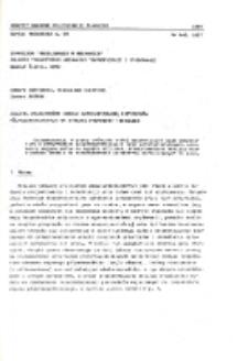 Analiza wrażliwości modelu matematycznego przyrządów półprzewodnikowych na wybrane parametry termiczne