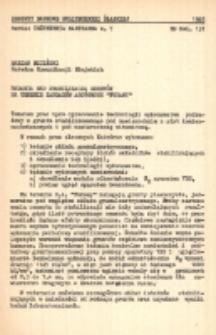 """Badania nad stabilizacją gruntów na terenie Zakładów Azotowych """"Puławy"""""""