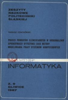 Proces powrotów elementarnych w doskonaleniu aproksymacji dyfuzyjnej jako metody modelowania pracy systemów komputerowych