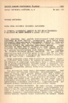 Fauna denna nizinnego zbiornika zaporowego. 1. Dynamika liczebności bentosu na tle zmian środowiska w zbiorniku na rzece Brynicy w latach 1953-1956