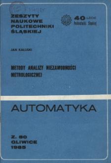 Metody analizy niezawodności metrologicznej