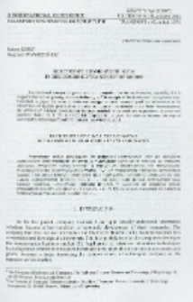 Electronic consignment note in the combined transport of goods