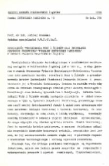 """Specjalność """"Technologia wody o ścieków oraz utrzymanie czystości środowiska"""" Wydziału Inżynierii Sanitarnej w okresie 25-lecia Politechniki Śląskiej"""