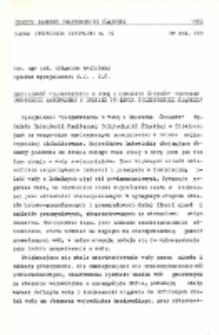 """Specjalność """"Zaopatrzenie w wodę i usuwanie ścieków"""" Wydziału Inżynierii Sanitarnej w okresie 25-lecia Politechniki Śląskiej"""