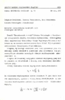 Metodyka programowania obliczeń sieci wodociągów grupowych