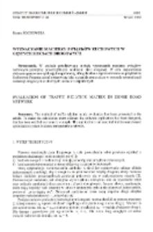 Wyznaczanie macierzy związków ruchowych w gęstych sieciach drogowych