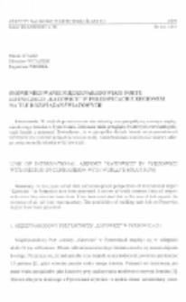 """Skomunikowanie Międzynarodowego Portu Lotniczego """"Katowice"""" w Pyrzowicach z regionem na tle rozwiązań światowych"""
