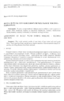 Ocena zużycia szyn kolejowych przy tarciu toczno-ślizgowym