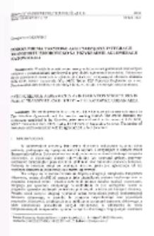 Porozumienia taryfowe jako narzędzie integracji transportu zbiorowego na przykładzie aglomeracji katowickiej