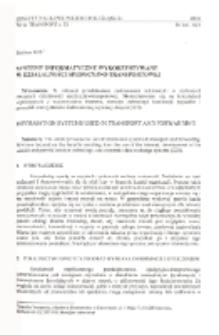 Systemy informatyczne wykorzystywane w działalności spedycyjno-transportowej