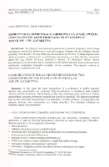 Koordynacja komunikacji zbiorowej na styku dwóch gmin na przykładzie programu pilotażowego: Wrocław - Św. Katarzyna