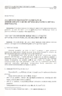 Zagadnienie przewozów terminowych : sformuowanie zadania optymalizacyjnego, metoda rozwiązania