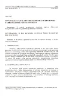Optymalizacja układu sieci komunikacji zbiorowej na przykładzie miasta Jaworzna
