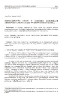 Bezpieczeństwo ruchu w miejskiej komunikacji zbiorowej na przykładzie wybranych miast Śląska