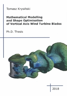 Mathematical modelling and shape optimisation of vertical axis wind turbines blades