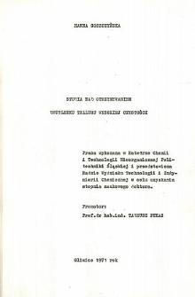 Recenzja rozprawy doktorskiej mgr inż. Hanny Goszczyńskiej pt. Studia nad otrzymywaniem dwutlenku telluru wysokiej czystości