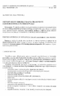 Metody oceny oddziaływania transportu samochodowego na środowisko
