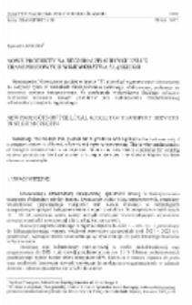 Nowe produkty na regionalnym rynku usług transportowych województwa śląskiego