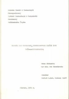 Recenzja rozprawy doktorskiej mgr inż. Ewy Mieczkowskiej pt. Badania nad ekstrakcją mikrogramowych ilości indu trój-n-butylofosfiną