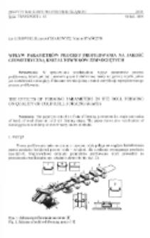 Wpływ parametrów procesu profilowania na jakość geometryczną kształtowników zimnogiętych
