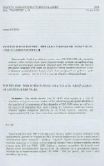 System norm ISO 9000 : 2000 jako narzędzie adaptacji usług logistycznych