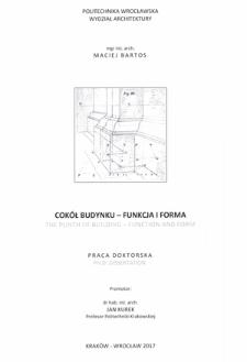 Recenzja rozprawy doktorskiej mgra inż. arch. Macieja Bartosa pt. Cokół budynku - funkcja i forma