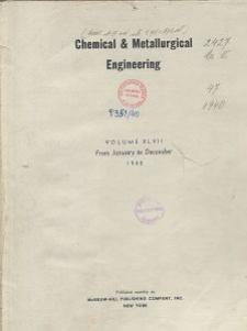 Chemical & Metallurgical Engineering, Vol. 47, Authors' Index