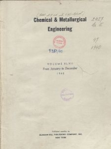 Chemical & Metallurgical Engineering, Vol. 47, General Alphabetical Index