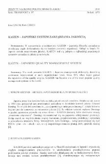 Kaizen - japoński system zarządzania jakością