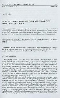 Nowe materiały konstrukcyjne kół podatnych przekładni falowych