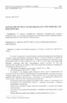 Przesłanki pilnego uporządkowania przepisów ruchu kolejowego
