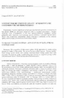 Systemy poboru zmiennej opłaty - wykorzystanie systemów strumieniowych DSMS