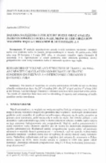 Badania natężenia i struktury ruchu oraz analiza przepustowości i ocena warunków ruchu obszarów wjazdów węzła Chrzanów II autostrady A-4