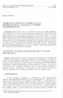 Teoretyczne podstawy wykorzystania benchmarkingu w badaniach systemów transportowych